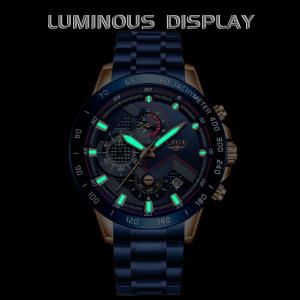 Ceas barbatesc Business Elegant Cronograf Elegant Otel Inoxidabil Quartz4