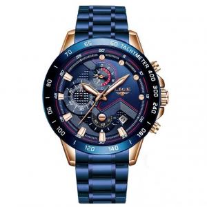 Ceas barbatesc Business Elegant Cronograf Elegant Otel Inoxidabil Quartz1