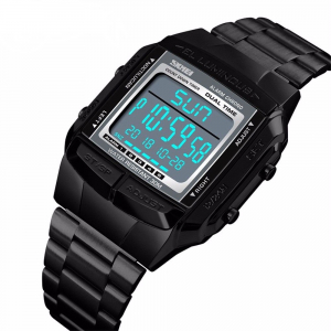 Ceas de mana barbati Casual Cronograf Led Digital Otel inoxidabil0