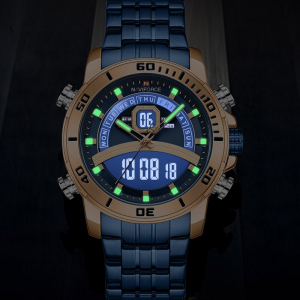 Ceas barbatesc Casual Dual Time Luxury Naviforce Cronograf Quartz Digital4