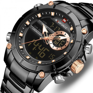 Ceas barbatesc Naviforce, Cronograf, Dual time, Quartz, Digital0