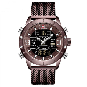Ceas de mana barbatesc, NaviForce, Digital/Analog, Elegant, Bussines, Fashion, Mecanism Quartz Seiko Japonez1
