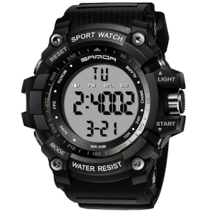 Ceas barbatesc Sanda, Sport, Militar, Army, Fashion, LED, Outdoor, Digital, Rezistent la apa, Cronometru, Alarma, Calendar0