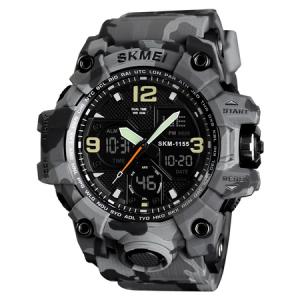 Ceas barbatesc Skmei, Digital, Camuflaj, Army, Shock Resistant, Militar, Sport, Dual time, Cronograf1