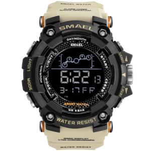 Ceas barbatesc Smael, Shock resistant, Militar, Sport, Army, Digital, Dual time, Cronograf0
