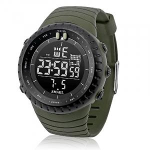 Ceas barbati Smael 1237, Sport, Digital, Rezistent la socuri, Army Green1
