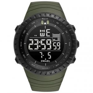 Ceas barbati Smael 1237, Sport, Digital, Rezistent la socuri, Army Green0