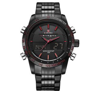 Ceas Naviforce clasic multifunctional, rezistent la apa 5Bar, mecanism Quartz, afisaj digital si analogic, alarma si cronometru0