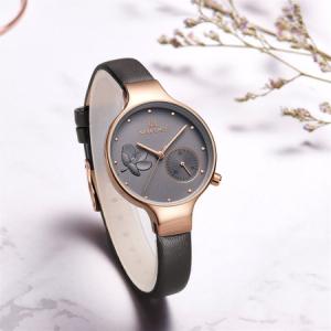 Ceas de mana dama, Casual, Elegant, Fashion Naviforce, mecanism Quartz Seiko, curea din piele naturala2
