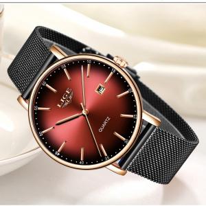 Ceas de dama Fashion Luxury Ultra subtire Quartz Otel inoxidabil4
