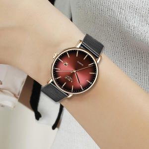 Ceas de dama Fashion Luxury Ultra subtire Quartz Otel inoxidabil6