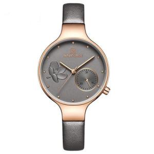 Ceas de mana dama, Casual, Elegant, Fashion Naviforce, mecanism Quartz Seiko, curea din piele naturala0