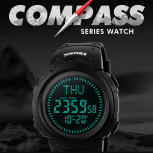 Ceas barbatesc Skmei, Busola, Sport, Digital, Compass4