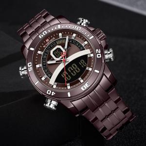 Ceas de mana barbatesc Casual Naviforce Dual Time Cronograf Quartz Otel inoxidabil3