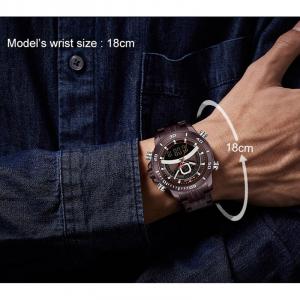 Ceas de mana barbatesc Casual Naviforce Dual Time Cronograf Quartz Otel inoxidabil5
