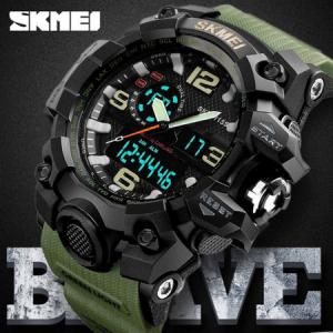 Ceas de mana barbati Skmei, Army, Militar, Dual Time, Shock Resistant, Digital, Sport, Cronograf1