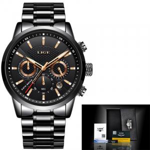 Ceas de mana barbati Fashion Luxury Mecanism Quartz Otel inoxidabil3