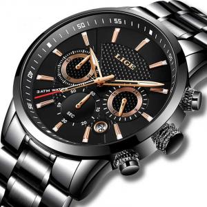 Ceas de mana barbati Fashion Luxury Mecanism Quartz Otel inoxidabil1