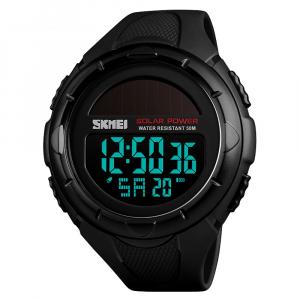 Ceas de mana barbati Incarcare Solara Digital Sport Cronograf Rezistent la apa si socuri3