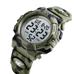 Ceas copii, Pentru baieti, Skmei, Sport, Alarma, Cronometru, Digital, Camuflaj, Army Green1