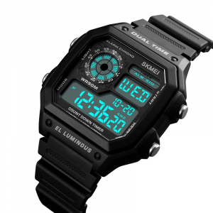Ceas de mana pentru barbati Casual Cronograf Alarma Otel inoxidabil0