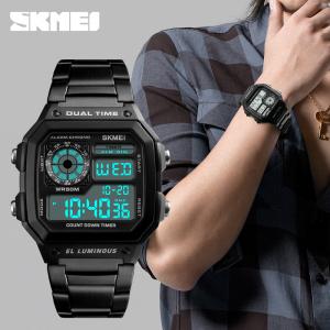 Ceas de mana pentru barbati Casual Cronograf Alarma Otel inoxidabil1