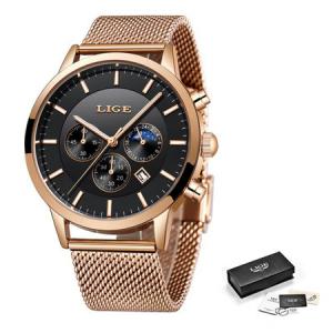 Ceas barbatesc, Lige, Elegant, Luxury, Business, Mecanism Quartz, Cronograf, Otel inoxidabil3