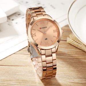 Ceas femei Curren Top Brand Luxury Casual Fashion Quartz Otel inoxidabil3