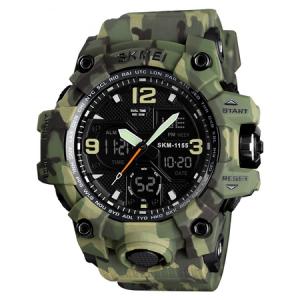 Ceas barbatesc Skmei, Digital, Sport, Army Camuflaj, Shock Resistant, Militar, Army, Dual time, Cronograf0