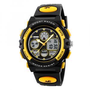 Ceas pentru copii, Sport, Dual-Time, Casual, Quartz, Curea din PU3