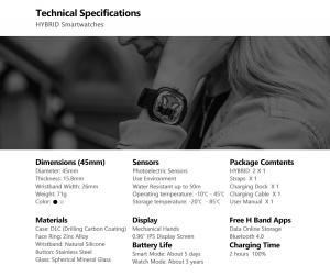 Ceas smartwatch mecanic Zeblaze Hybrid 2, Monitorizeaza sanatatea si activitatea fitness7
