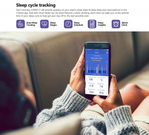 Ceas smartwatch mecanic Zeblaze Hybrid 2, Monitorizeaza sanatatea si activitatea fitness11