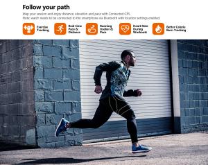 Ceas smartwatch mecanic Zeblaze Hybrid 2, Monitorizeaza sanatatea si activitatea fitness12