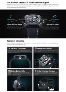 Ceas smartwatch mecanic Zeblaze Hybrid 2, Monitorizeaza sanatatea si activitatea fitness [14]