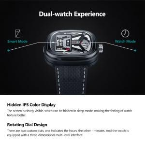 Ceas smartwatch mecanic Zeblaze Hybrid 2, Monitorizeaza sanatatea si activitatea fitness20