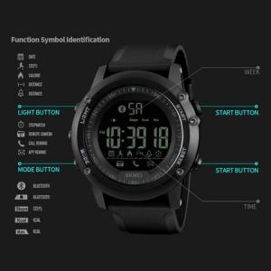 Ceas Smartwatch, inteligent Skmei, Fitness, Digital, Sport, Rezistent la apa, Pedometru, Calculator calorii4