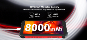 "Telefon mobil, Smartphone Oukitel WP5 Pro, Android 10, 4G, 4GB RAM, 64GB ROM, IPS 5.5"", Helio A25 OctaCore, Waterproof, 8000mAh, Dual SIM4"