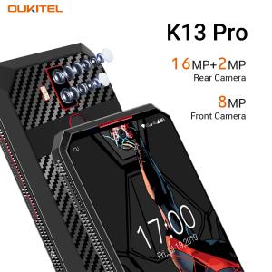 Telefon mobil Oukitel K13 Pro, Android 9.0, 4 GB RAM, 64 GB ROM IPS 6.41inch, Helio P22 OctaCore, PowerVR GE8320, 11000mAh, Dual SIM, Negru cu model kevlar5
