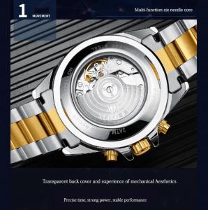 Tevise Ceas mecanic automatic barbatesc Top Brand Fashion Otel inoxidabil4