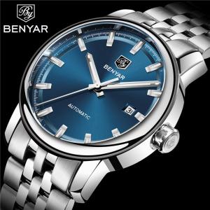 Benyar Ceas barbatesc Automatic Clasic Otel Inoxidabil5
