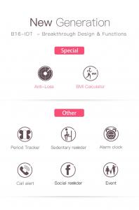 Bratara fitness Bozlun/Skmei B16 Monitorizare Perioada Menstruala Fitness Tracker5