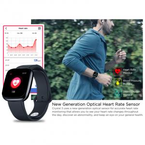 Bratara fitness, inteligenta, Zeblaze Crystal 3, 1.3 Inch, Bataile inimii, Monitor presiune sanguina, Incarcare USB [8]