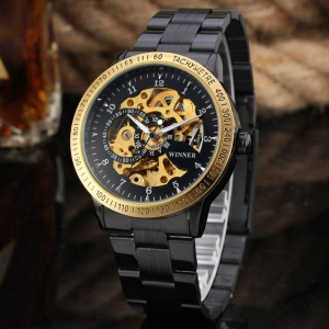 Ceas automatic mecanic Winner Skeleton Casual1