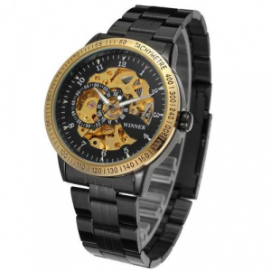 Ceas automatic mecanic Winner Skeleton Casual0
