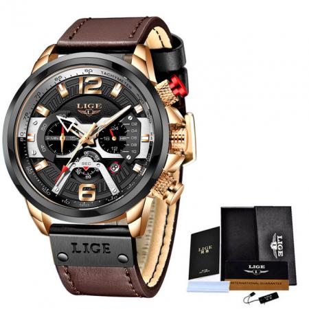 Ceas barbatesc Lige Casual Cronograf Automatic Quartz [2]