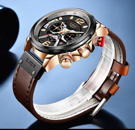 Ceas barbatesc Lige Casual Cronograf Automatic Quartz [3]