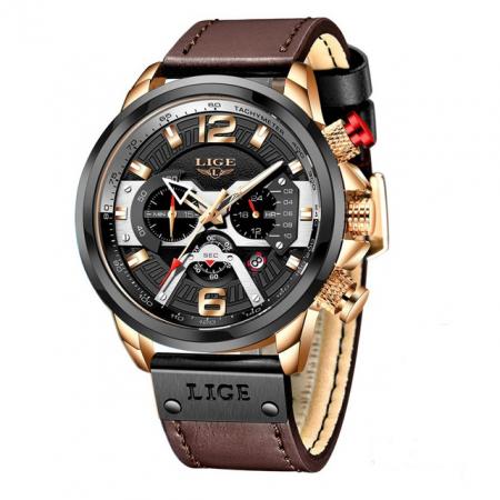 Ceas barbatesc Lige Casual Cronograf Automatic Quartz [0]