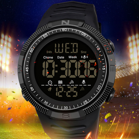 Ceas barbatesc Sport Tio Digital Alarma Cronometru Rezistent la apa si socuri [2]