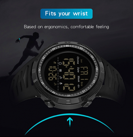 Ceas barbatesc Sport Tio Digital Alarma Cronometru Rezistent la apa si socuri [6]