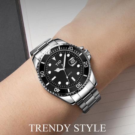 Ceas barbatesc Tio Quartz Casual Fashion Luxury Otel inoxidabil [2]